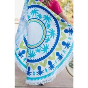 Other - NEW Pineapple Palm Tree Round Beach Wrap